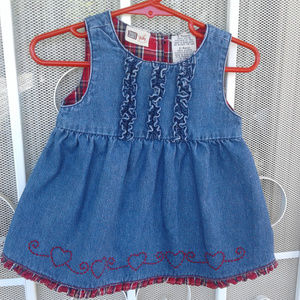 Infant 3 to 6 Mo. Sleeveless Dress 100% Cotton